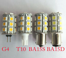 3W T10/G4/BA15S/BA15D Car Boat Bulb 24-5050SMD Led Lights Lamp White/Warm 12-24V