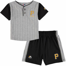 Pittsburgh Pirates Majestic Infant Batter Up T-Shirt & Shorts Set - MLB