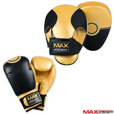Boxing Focus Pads Set Sparring Target Punching Gloves Bag Mitts MMA UFC Training
