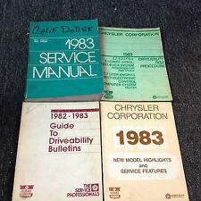1983 DODGE RAM VAN VANS WAGON WAGONS Voyager Service Repair Shop Manual Set OEM