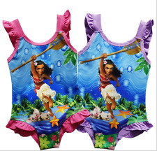 Moana Princess swimming costume Baby Girls Kids swimwear swimsuit Bathing 4-9Y