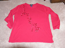 LAURA SCOTT LONG SLEEVE  red  SWEATER SIZE 16 / 18 W  great deal   wow