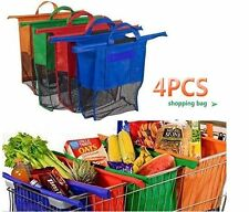 4 Bags One Set Market  Cartable Shopping Bags Reusable Eco Tote Trolley Carrier