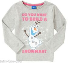 DISNEY FROZEN OLAF LONG SLEEVE T SHIRT/TOP 5-6YRS - New