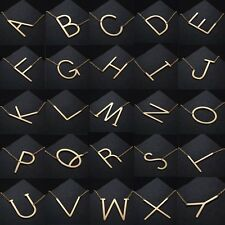 1PCSilver/Gold Stainless Steel Large Alphabet 26 Letter Pendant Necklace Jewelry