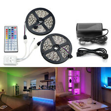 10M 5050 RGB LED Strip with 44keys IR Remote Controller +12V 5A Power Adapter