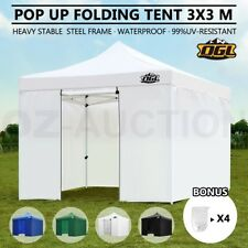 OGL 3x3M Pop Up Outdoor Gazebo Folding Tent Market Party Marquee Shade Canopy