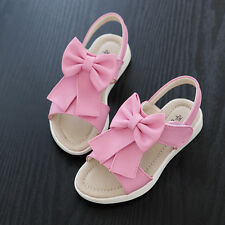 Kids Toddler Baby Girl Child Infant Summer Sandals Sweet Bowknot Foothold Shoes
