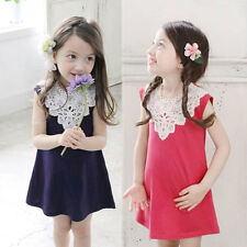 Baby Kids Girls Princess Party Dress Toddler Summer Casual Sleeveless Dresses