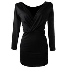 Sexy Ladies Club Dresses Black Cocktail Slim Fitted Bodycon Womens Mini Dress