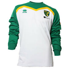 OFFICIAL NORWICH CITY FC 2016-17 PLAYER WORN TRAINING SWEATSHIRT WHITE/GREEN