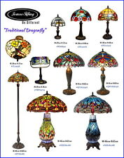 Traditional Dragonfly Leadlight Stained Glass Tiffany Lamp(10 types)