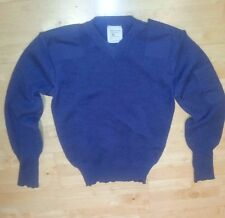 Royal Air Force Blue Pullover V Neck Jumper Current RAF Issue wool / nylon