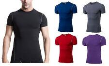 New Mens Compression Under Base Layer Top Tight Short Sleeve T-Shirts Sportwear
