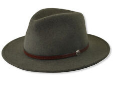 Stetson Water Repellent Crushable Fedora Hat CROMWELL Olive Mix  S, M, L, XL