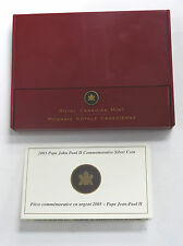 2005 Proof Pope John Paul II $10 Commemorative Canadian Silver Coin Box & COA