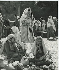 Morocco, Chaouen, Berber women at the weekly market Vintage  Tirage argentique