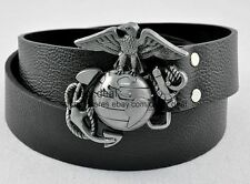 Western Pattern Earth with Eagle Belt Buckle Genuine Leather Boys Mens