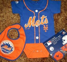 New York Mets Newborn Infant Jersey Bib & Bootie Set add any name & number