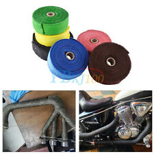10M Motorcycle Exhaust Header Pipe Heat Insulation Wrap Roll Tape Glass Fiber DH