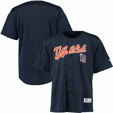 Detroit Tigers Stitches Polyester Button-Up Jersey - Navy - MLB