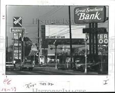 1983 Press Photo Billboards and Store Signs at Westheimer & Fondren, Houston