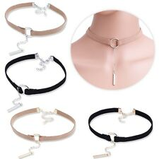 Women Velvet Choker Necklace Gold/Silver Plated Chain Pendant Necklace Jewelry
