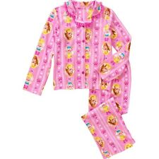 DISNEY PRINCESS BELLE Flannel Pajamas Sleepwear Set Girls Sz. 6/6X 7/8 10/12 $32