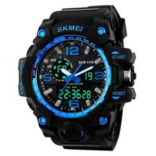 Men 50m Waterproof Digital Wristwatch Military Army Sports Watch Stainless Steel