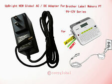 Global AC Adapter For Brother P-Touch Label Maker Labeler AD-E001 Power Supply