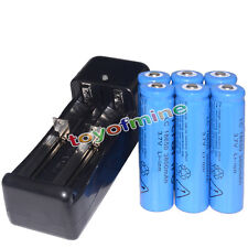 6x 3.7V 18650 Li-ion 3800mAh Rechargeable Battery + Universal Charger