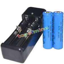 2x 3.7V 18650 Li-ion 3800mAh Rechargeable Battery + Universal Charger