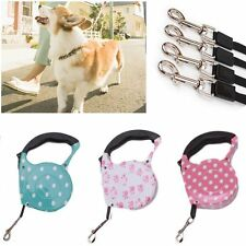 5M Nylon Strap Automatic Retractable Pet Lead Rope One-handed Lock Dog Leash