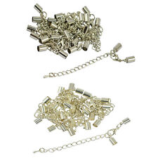 12pcs 5mm Clasp Clip End Caps Set Jewelry Findings Lobster Clasp Extender Chain