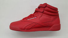 REEBOK FREESTYLE HI EXCELLENT RED SILVER GOLD BIG KIDS SIZE SNEAKERS BD5006