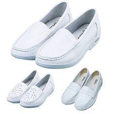 New Women Work Shoes Hospital Nurse Doctor Air Cushion Shoes White Comfy Loafers