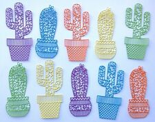 Large Cacti Die Cuts - Assorted Sets of 10 for card toppers, crafts etc