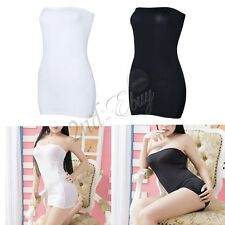 Strapless Bodycon Tube Sleeveless Top Dress Stretch Mini Slim Clubwear Party