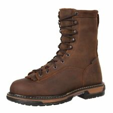 "Rocky Work Boots Mens 8"" Ironclad Waterproof Leather Brown FQ0005698"
