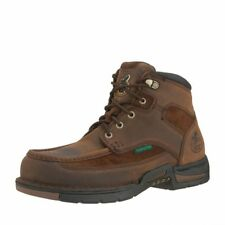 "Georgia Boot Work Mens 6"" Athens Steel Toe Waterproof Brown G7603"