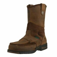 "Georgia Boot Work Mens 10"" Athens Waterproof Wellington Brown G4403"