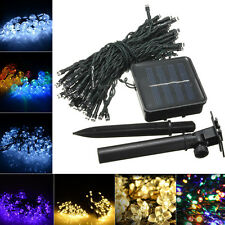 100 LED Solar Power String Fairy Light Party Xmas Outdoor Garden Tree Decor Lamp