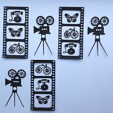 Vintage Movie Projector Die Cuts - Assorted Sets of 15pcs, Card Making, Crafts..