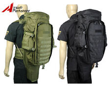 Heavy Duty Tactical Military Molle Dual Rifle Gun Carrying Case Bag Backpack