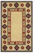 Rizzy Rugs Beige Jagged Prickly Blocked Southwestern Area Rug Bordered SU2015