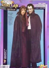 "56"" VELVET CAPE CLOAK WITH COLLAR GOTH VAMPIRE WARLOCK HALLOWEEN COSPLAY COSTUME"