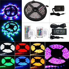 5M 300-LED Flexible RGB Strip 3528/5050 SMD Waterproof Power Supply IR Control