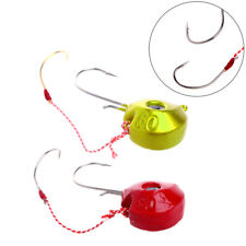 Lures 60 80g Lead Head Jigs with Single Hook Accessories Boat Fishing Enquipment