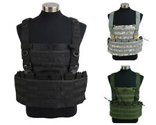 Molle Airsoft Tactical Military Vest w/ Hydration Pocket Magazine Pouch 3 Colors