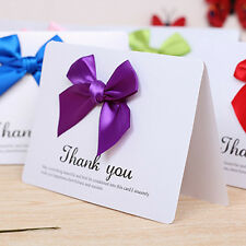 3D Bowknot Greeting Card Handmade Fold THANK YOU Cards Mother/Father Day Gifts